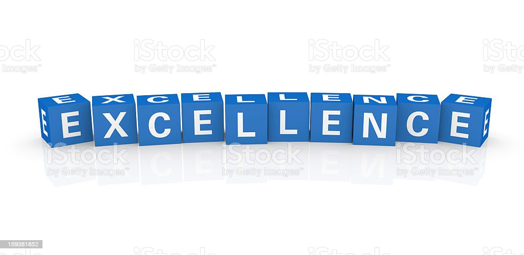 Buzzword Cubes: Excellence royalty-free stock photo