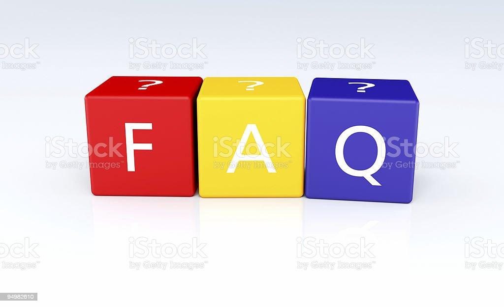 Buzzword Cubes: FAQ royalty-free stock photo
