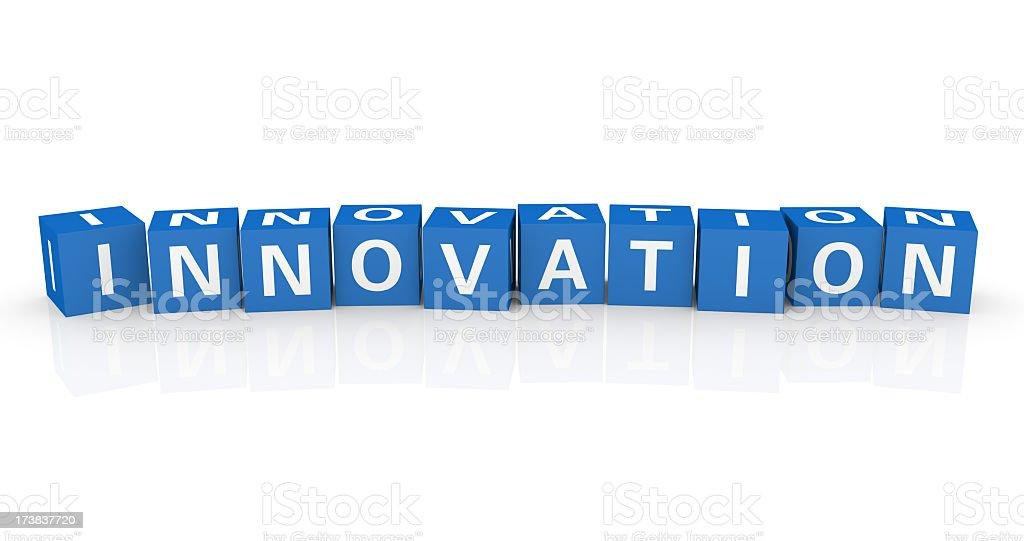 Buzzword Cubes: Innovation royalty-free stock photo