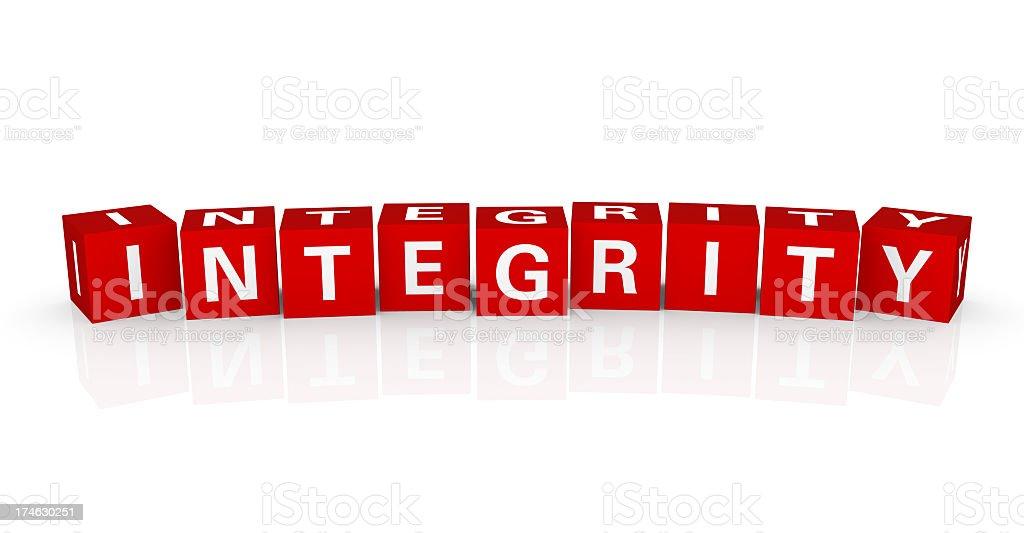 Buzzword Cubes: Integrity royalty-free stock photo