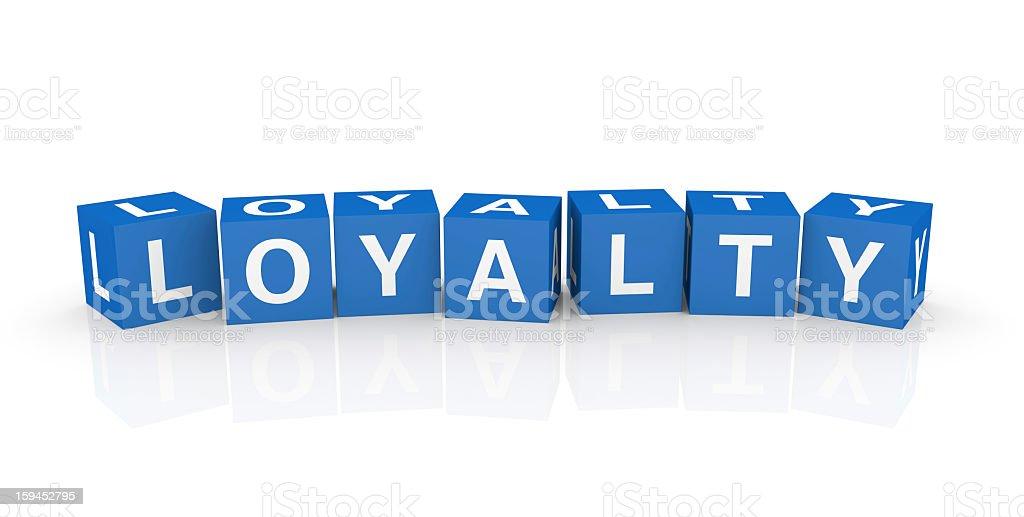 Buzzword Cubes: Loyalty royalty-free stock photo