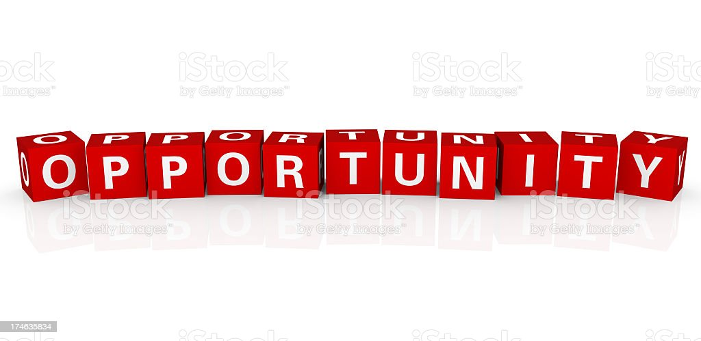 Buzzword Cubes: Opportunity royalty-free stock photo