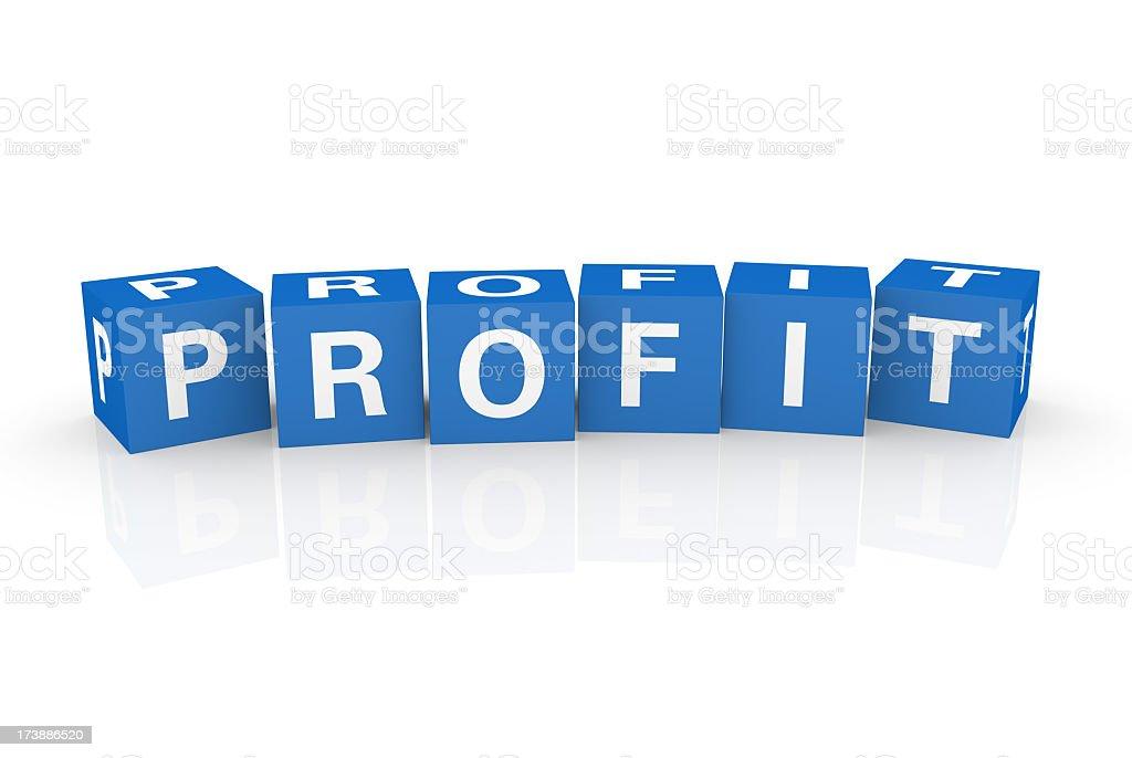 Buzzword Cubes: Profit royalty-free stock photo