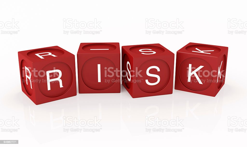 Buzzword Cubes: RISK royalty-free stock photo