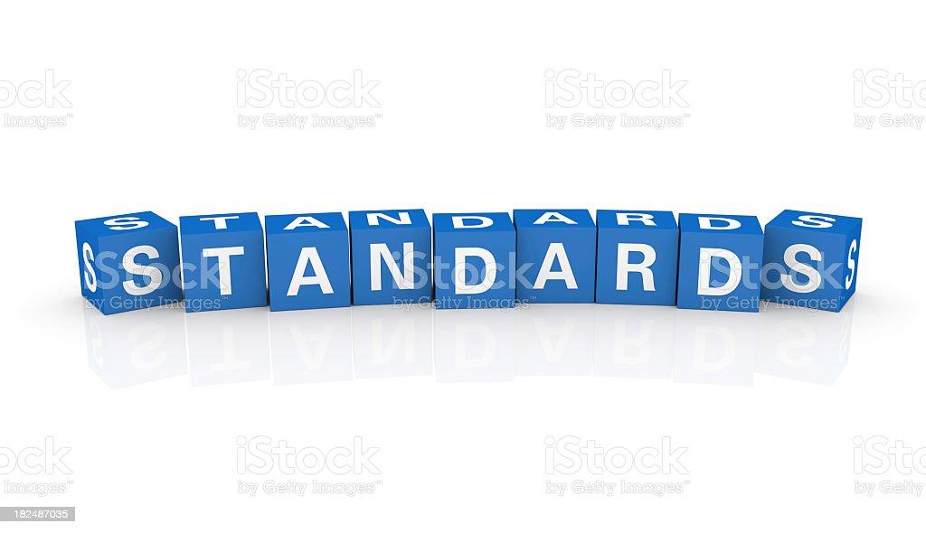 Buzzword Cubes: Standards stock photo