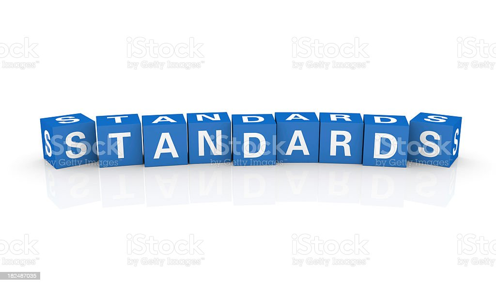 Buzzword Cubes: Standards stock photo