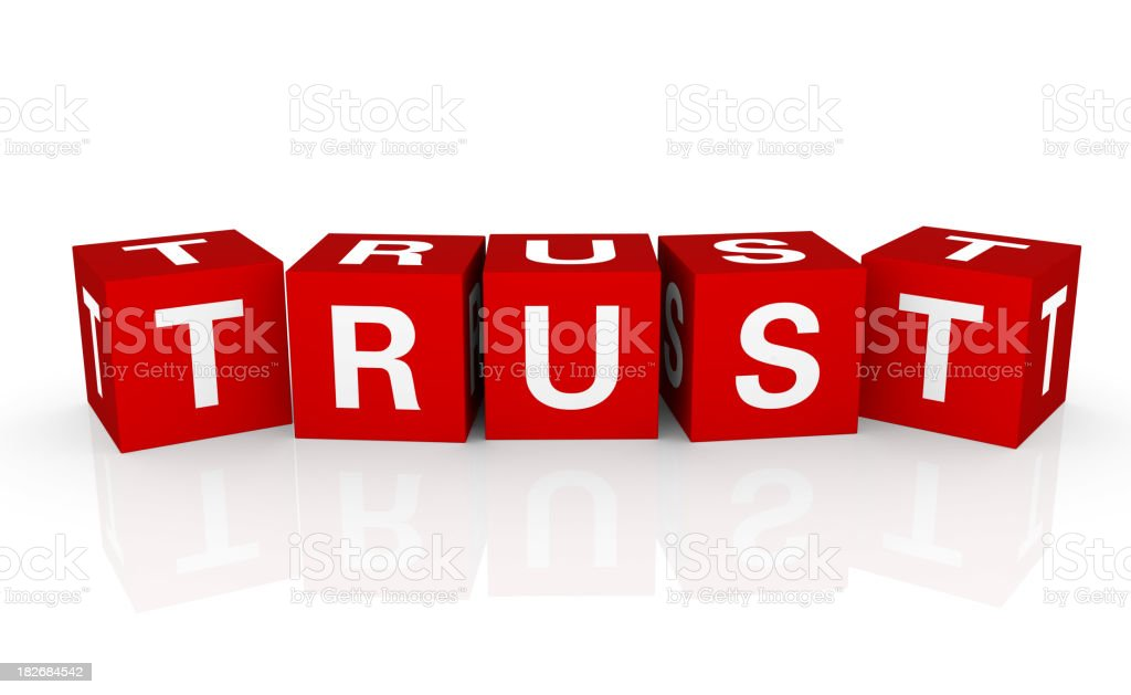 Buzzword Cubes: Trust royalty-free stock photo