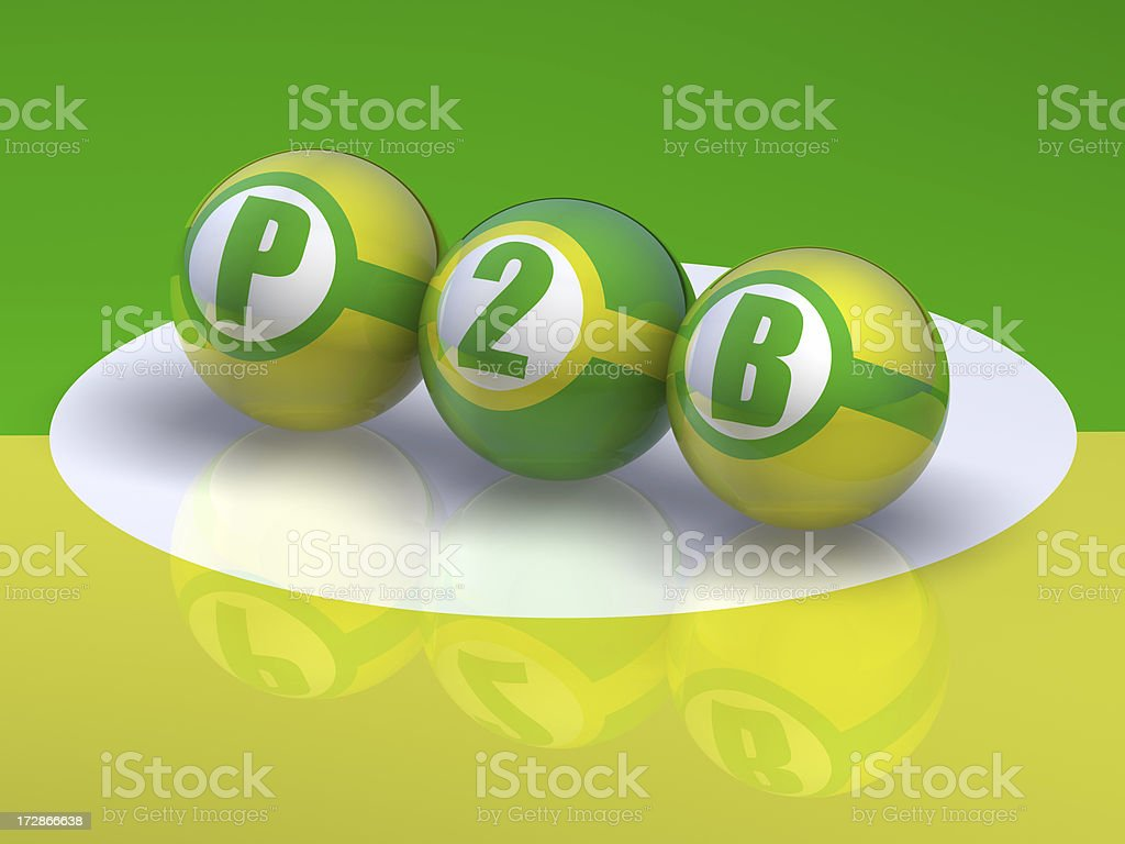 Buzzword P2B, People to Business stock photo