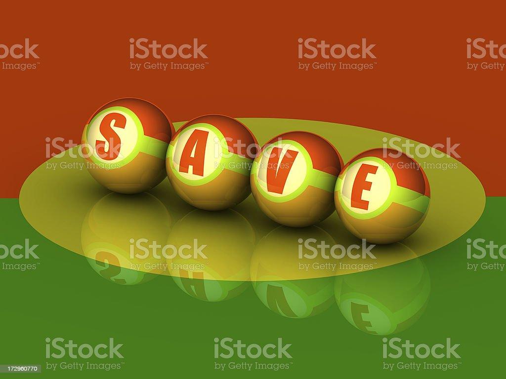 Buzzword  'SAVE' (3D) stock photo