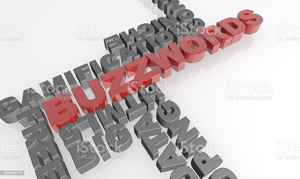 Buzzwords 3D text - XXXL stock photo