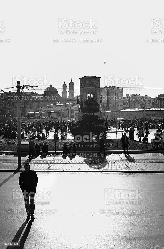 Bw: Taksim stock photo