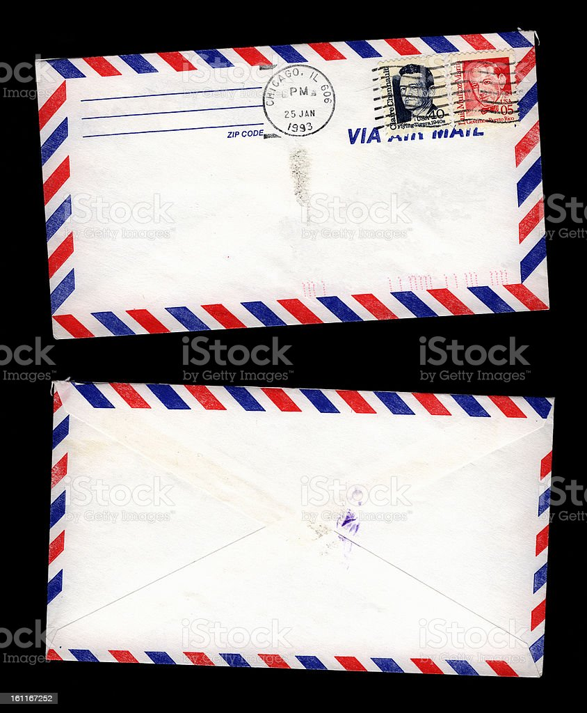 By airmail from Chicago royalty-free stock photo