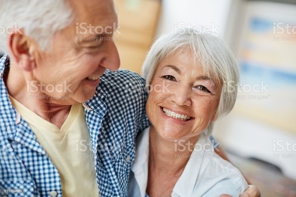 By his side is where I'm happiest stock photo