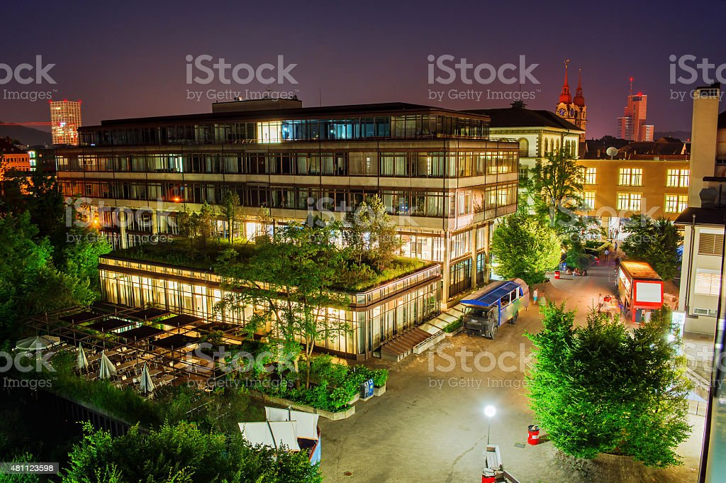 ZHAW by Night HDR stock photo