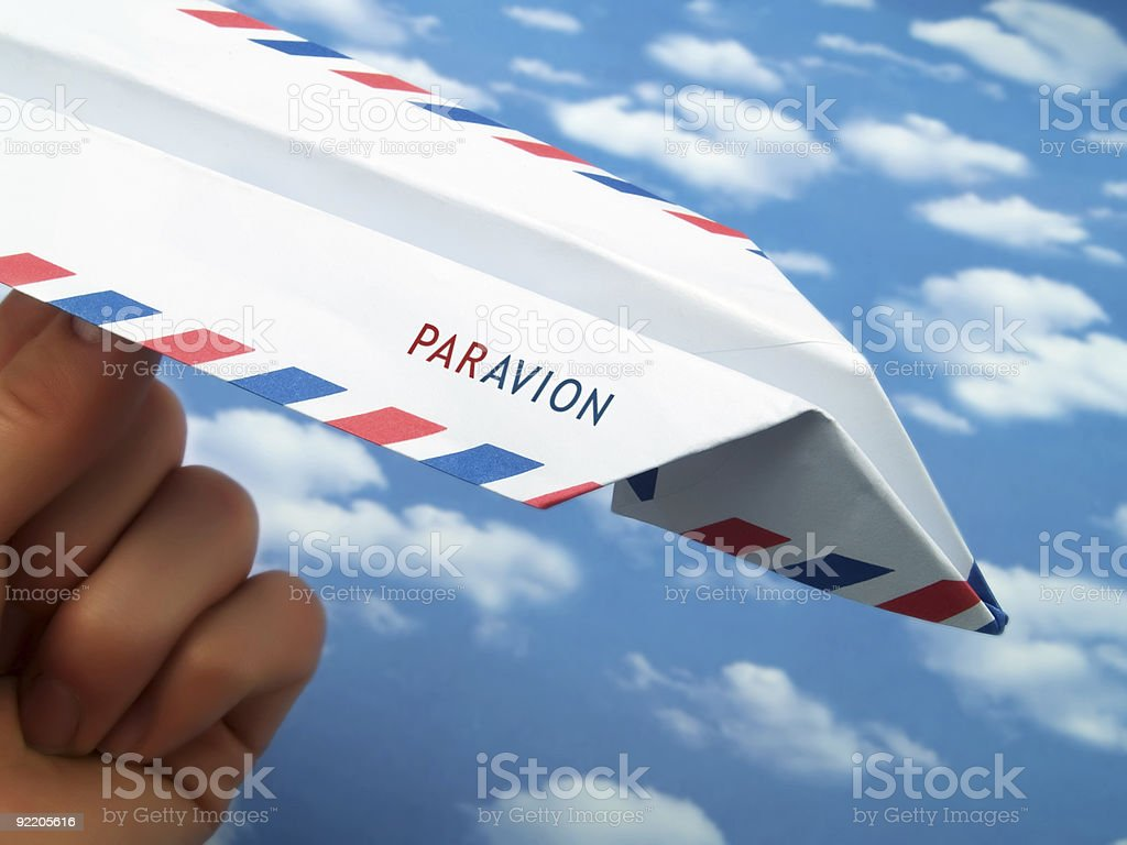 Par Avion royalty-free stock photo