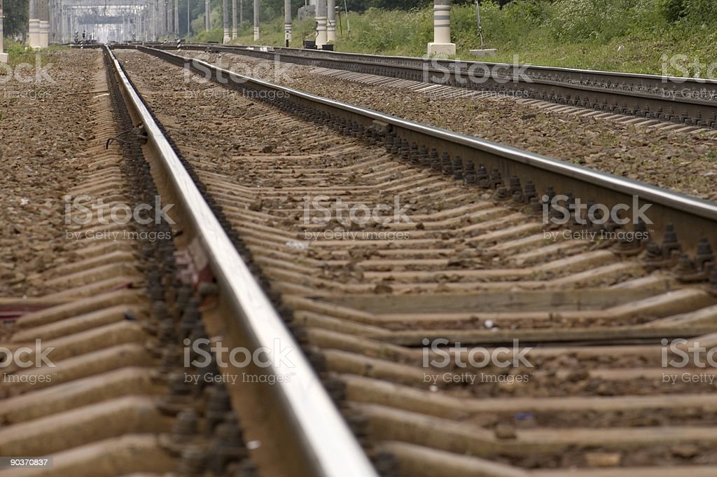 by rail train royalty-free stock photo