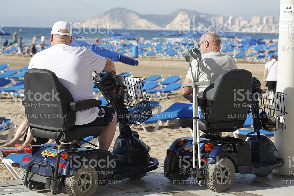By scooter stock photo