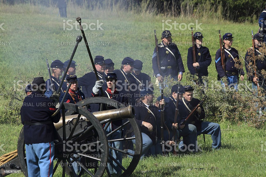 by the cannon royalty-free stock photo