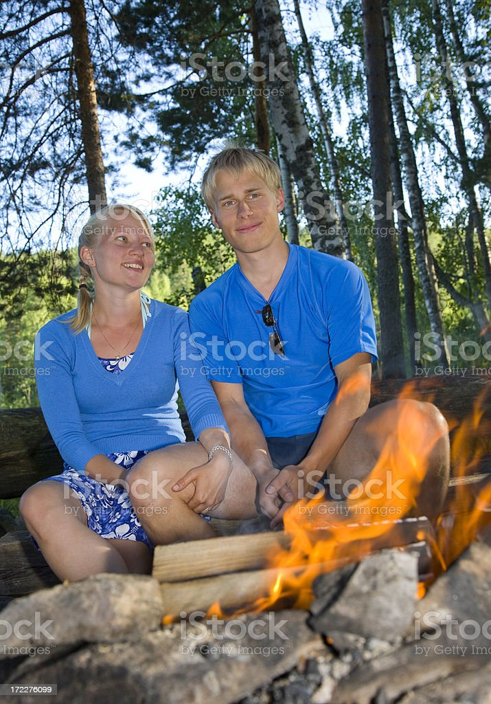 by the fire royalty-free stock photo