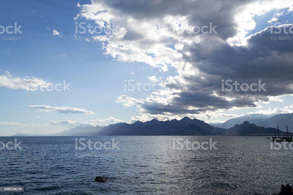 By the Mediterranean in Tuerkey stock photo