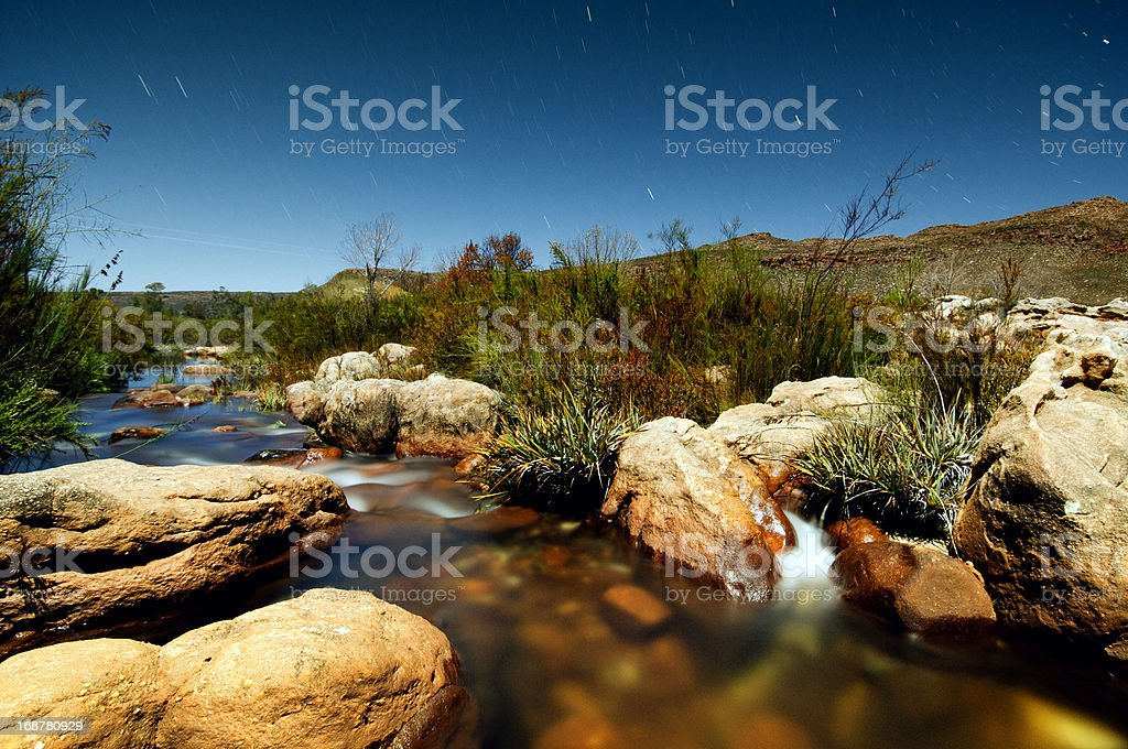 By the river at night royalty-free stock photo