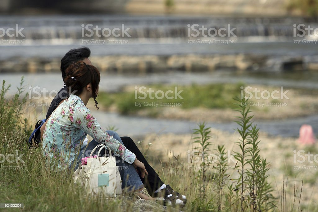 By the river royalty-free stock photo