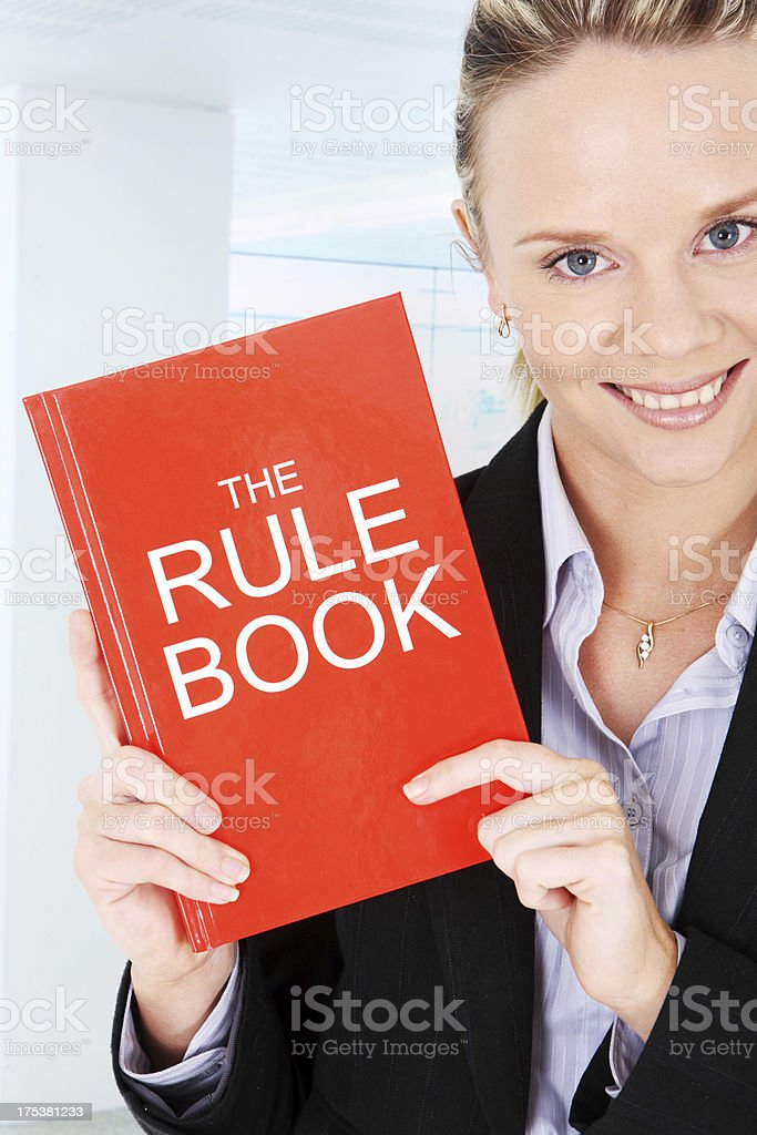 By the Rule Book stock photo