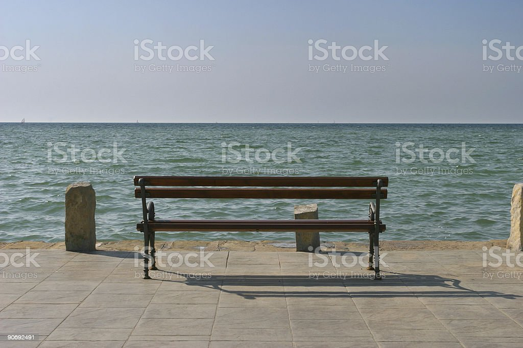 By the see in winter royalty-free stock photo