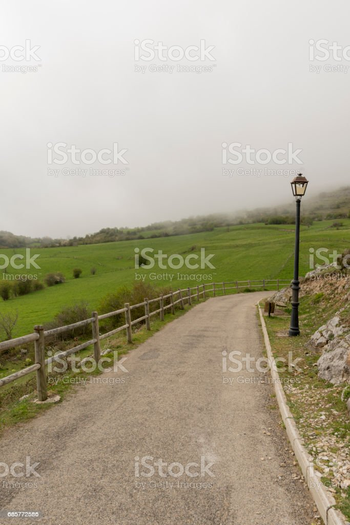 By the village of Argueso in the province of Cantabria stock photo