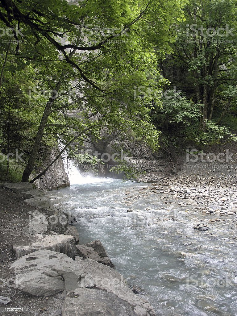 By the waterfall royalty-free stock photo
