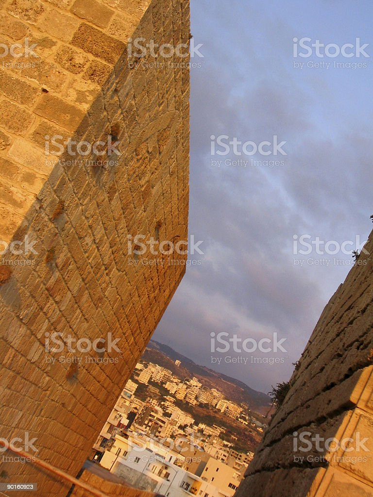 Byblos castle in  Beirut Lebanon royalty-free stock photo