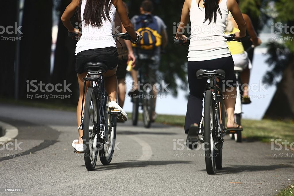 Bycycle trip royalty-free stock photo