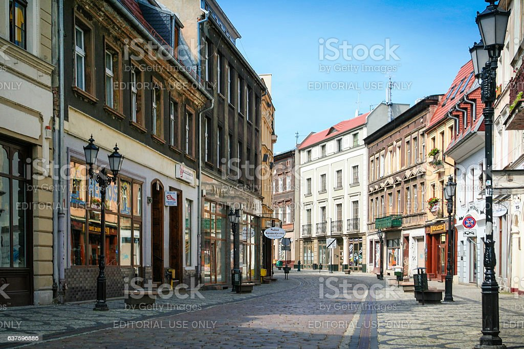 Bydgoszcz Long Street stock photo