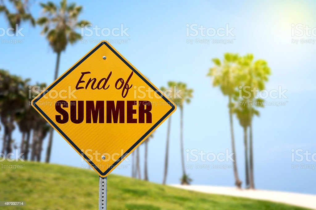 Bye Bye Summer stock photo