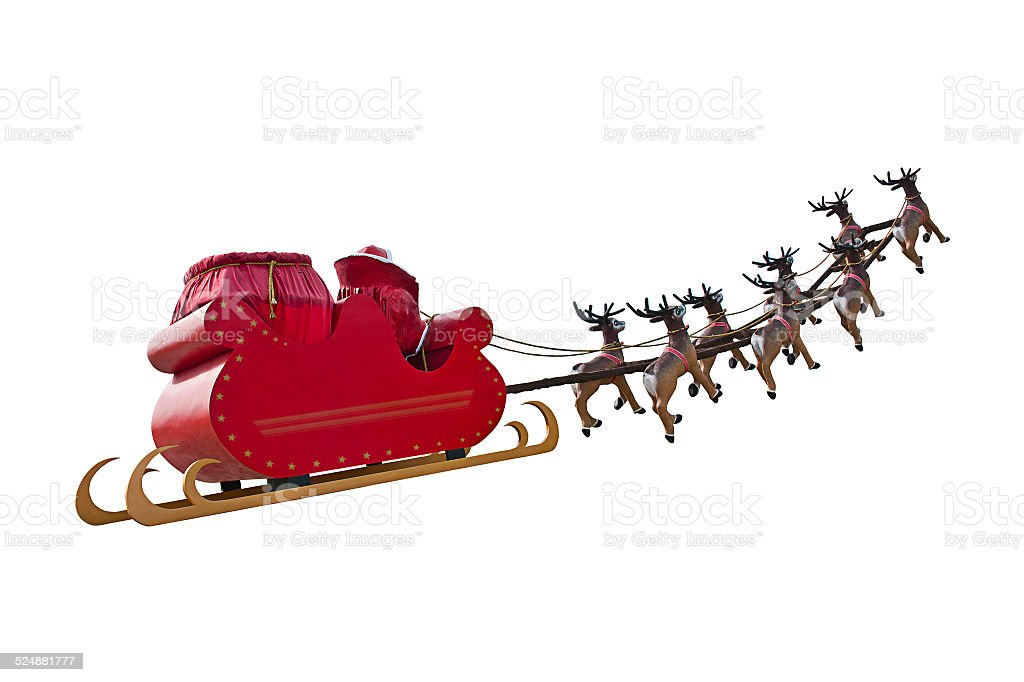 Byebye Santa Claus stock photo