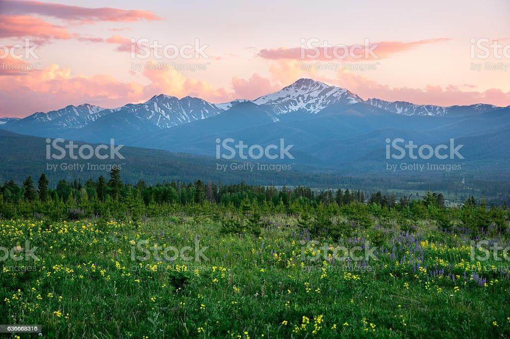 Byers Peak stock photo