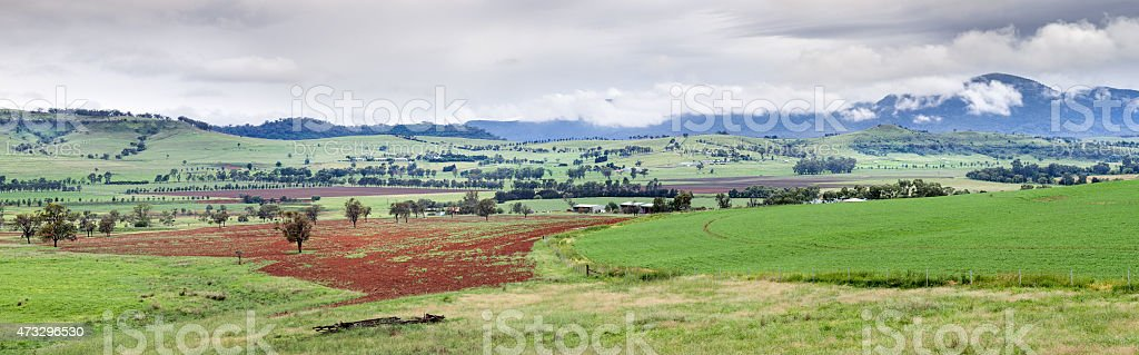 Bylong Valley Australia stock photo