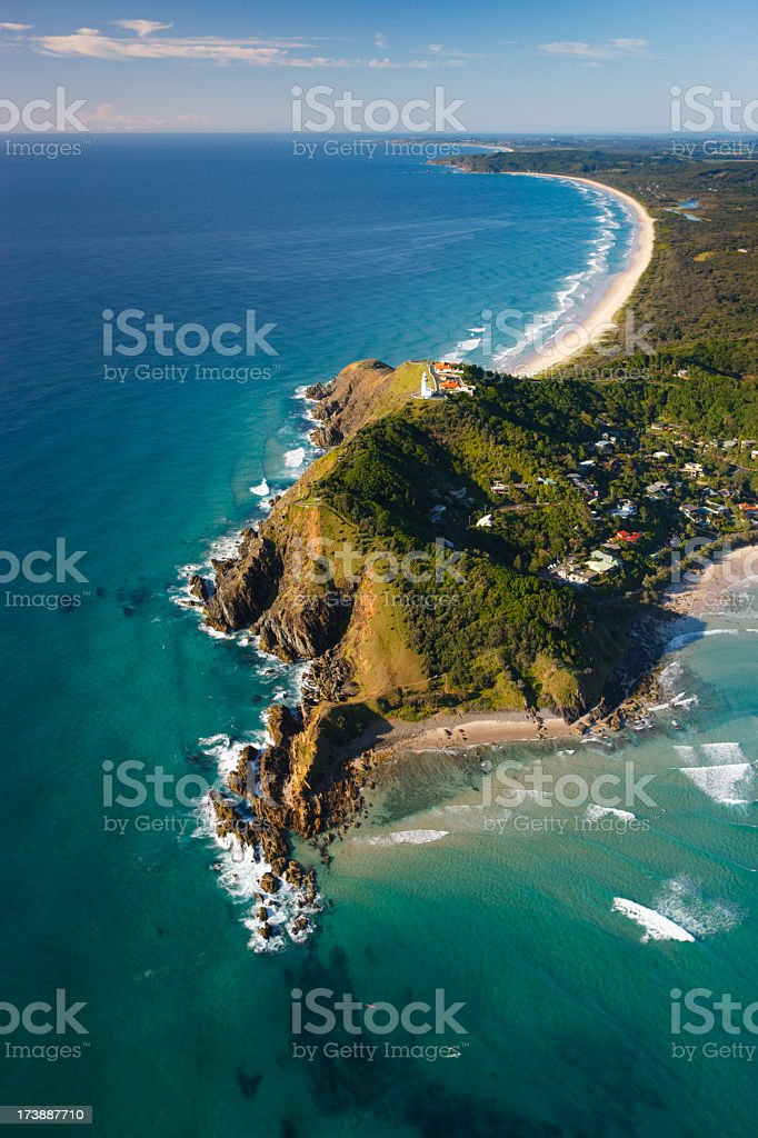 Byron Bay Aerial View stock photo