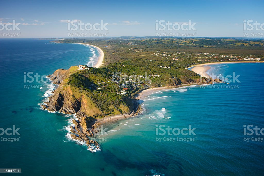 Byron Bay Aerial View royalty-free stock photo
