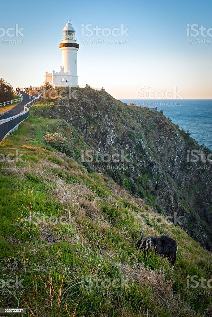 Byron Bay, Cape Byron Light stock photo