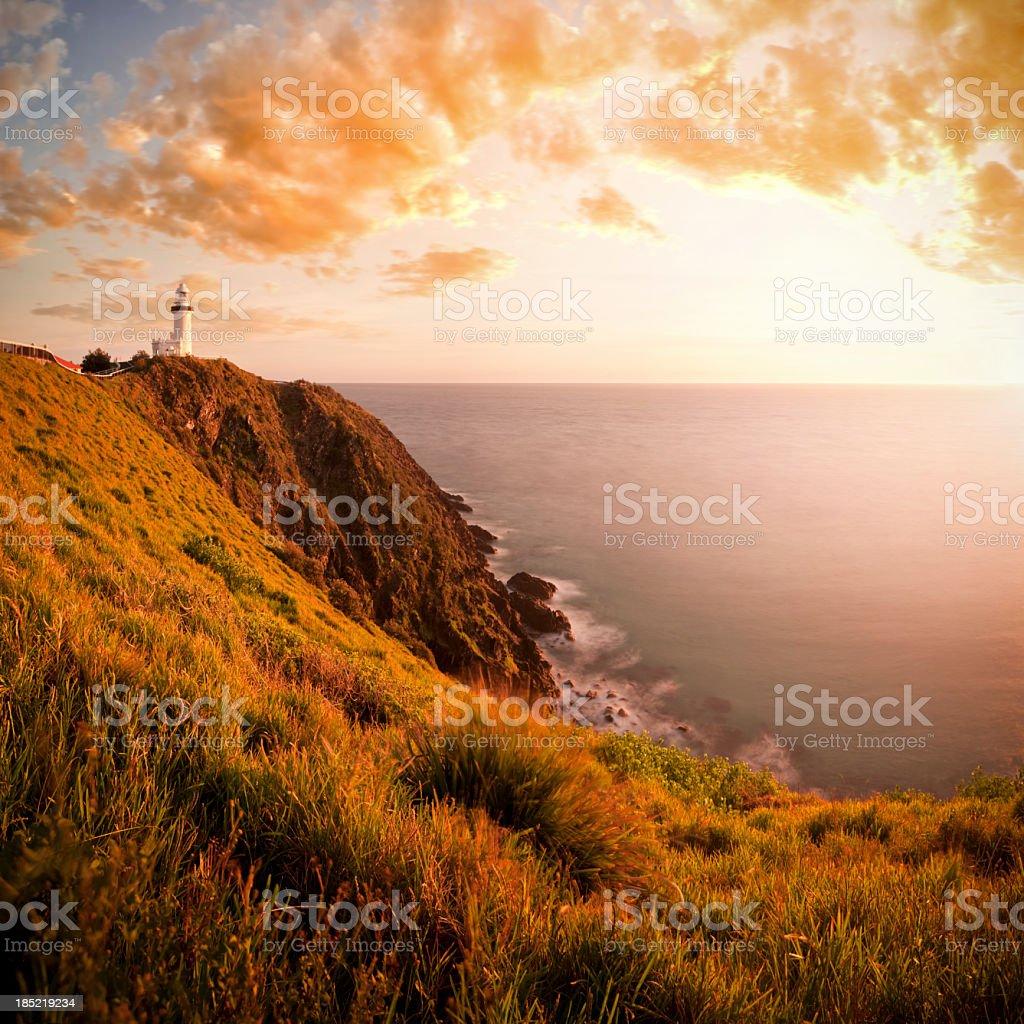 Byron Bay Lighthouse & Headland stock photo