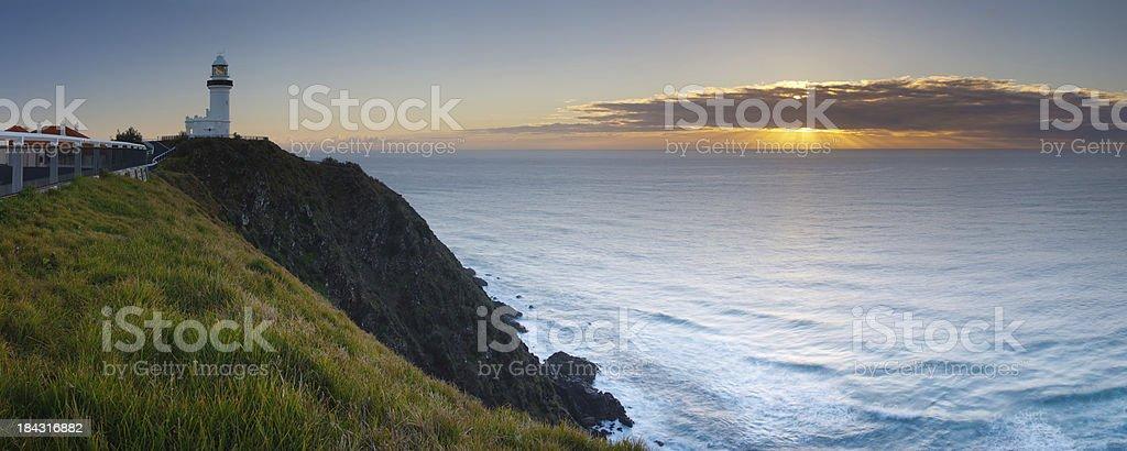 Byron Bay Lighthouse Panorama stock photo