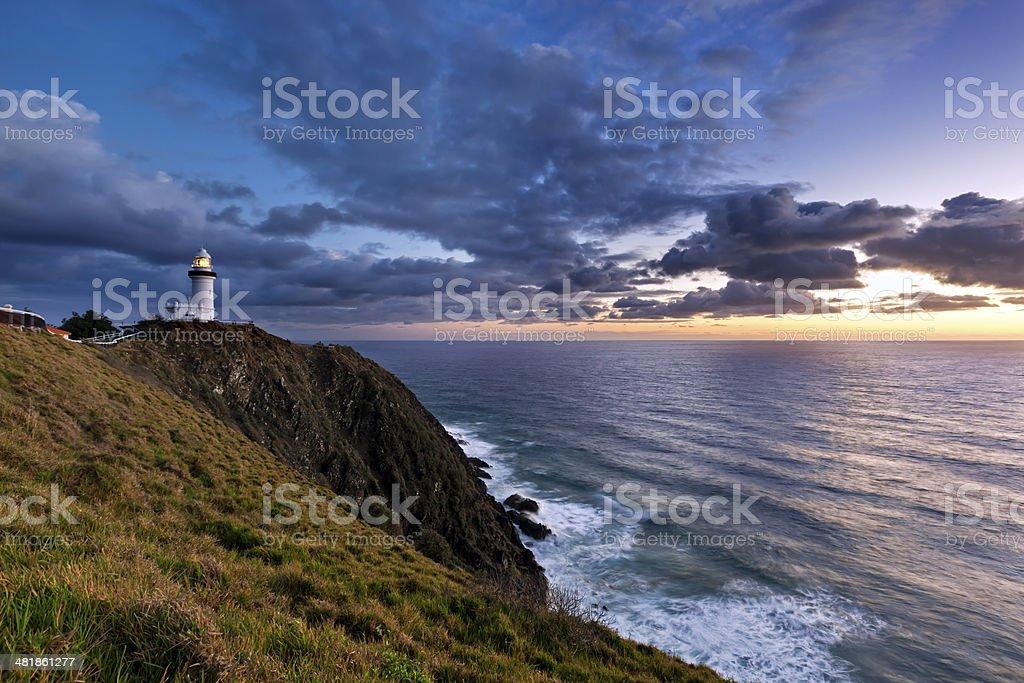 Byron Bay Lighthouse Sunrise stock photo