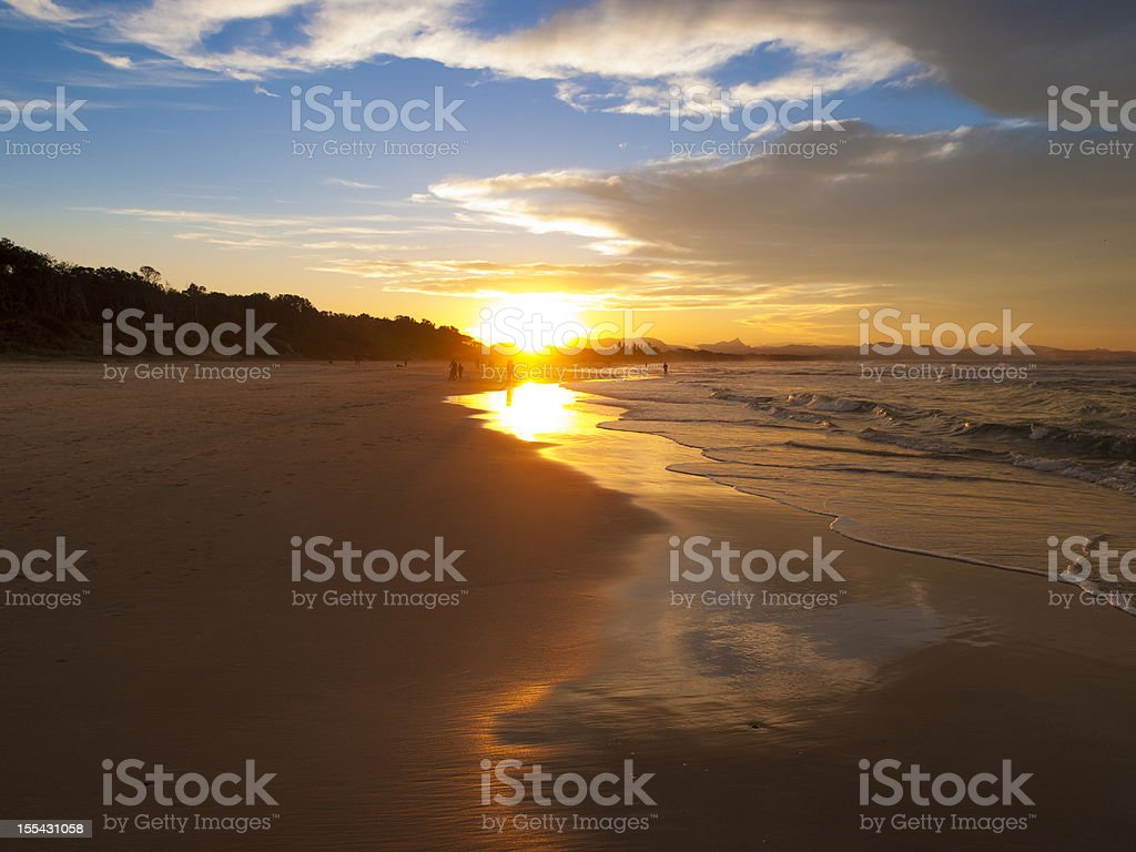 Byron Bay Sunset royalty-free stock photo