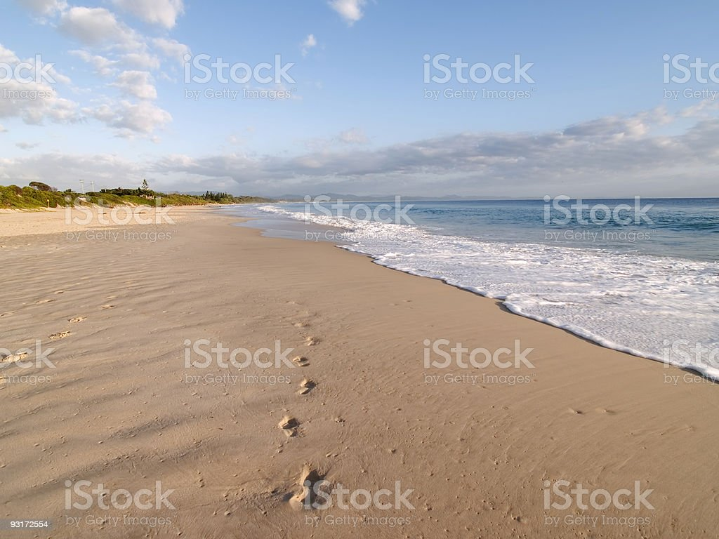 Byron beach tracks stock photo
