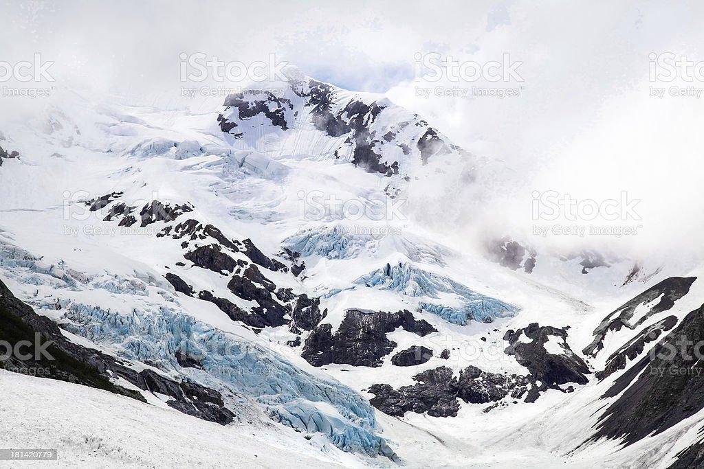 Byron Glacier, Alaska stock photo