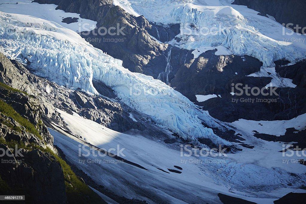 Byron Glacier - Portage Valley, Alaska stock photo