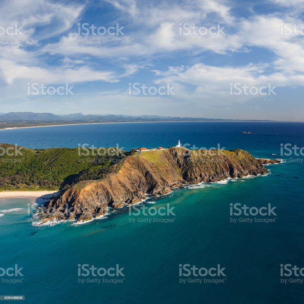 Byron Headland Aerial View stock photo