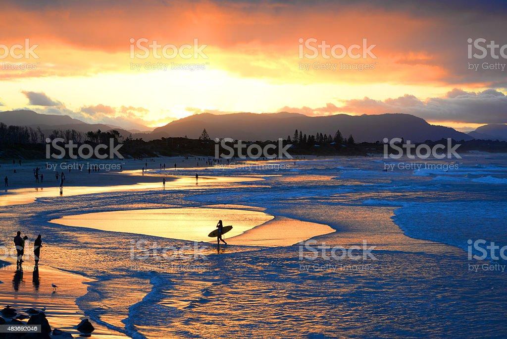 Byron Sunset stock photo