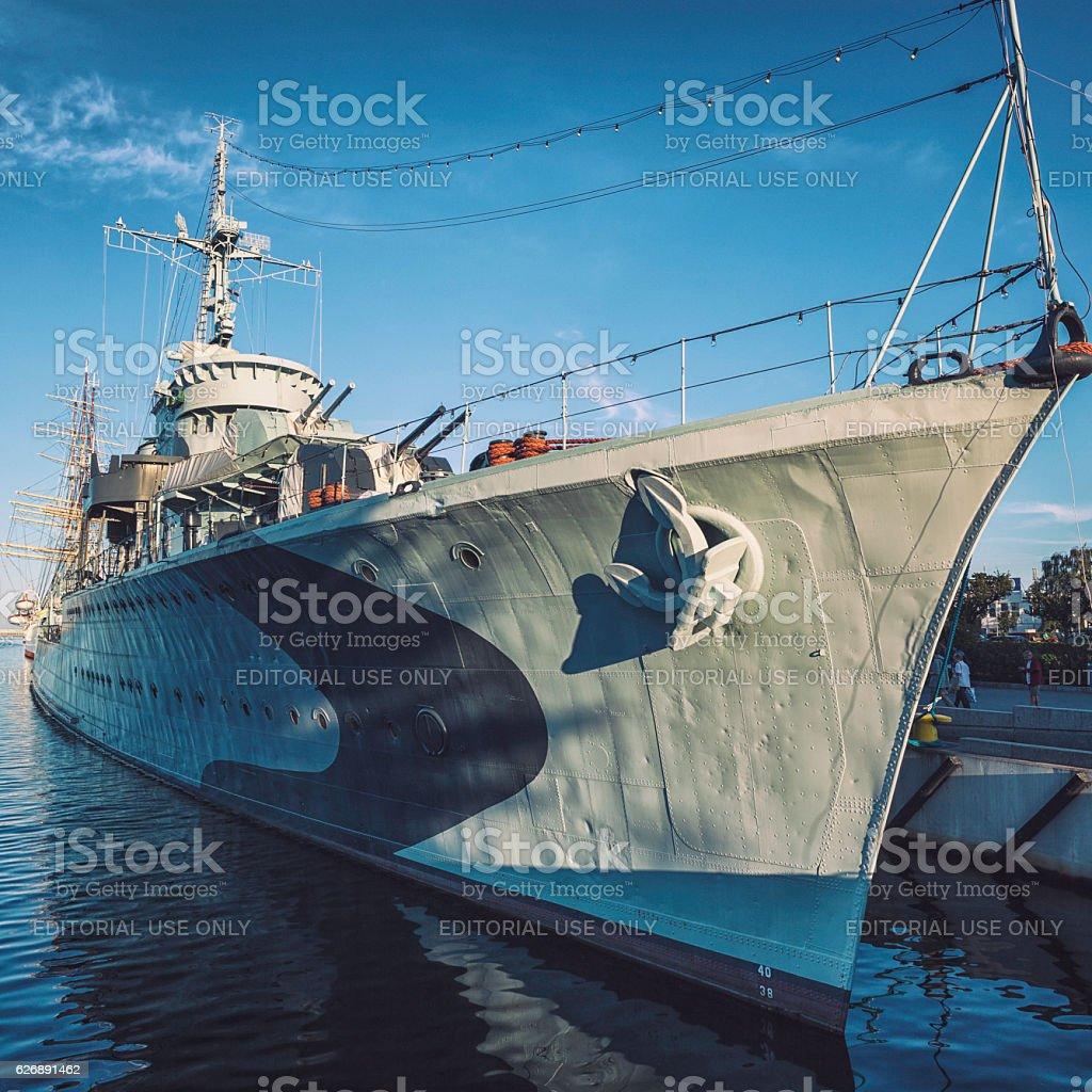 ORP Błyskawica destroyer, Gdynia stock photo